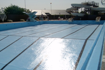 Sani-tred applied to a pool