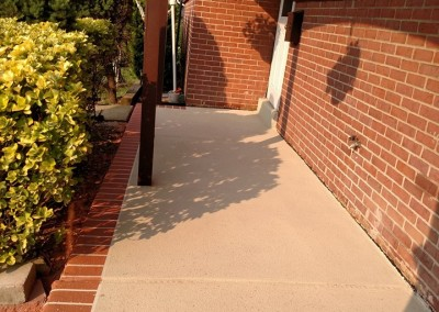 resurfaced concrete front porch delaware