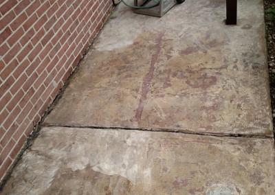 concrete porch before wilmington concrete resurfacing