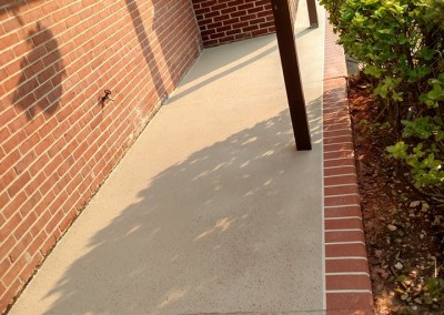 finished concrete porch