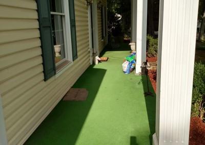 wilmington concrete resurfacing artificial turf patio