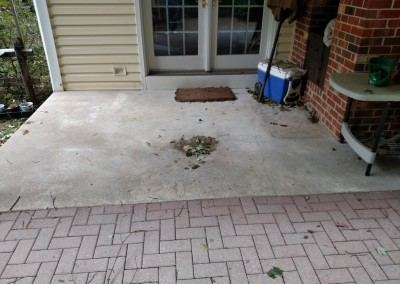 wilmington concrete resurfacing before photo