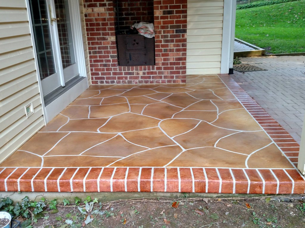Concrete Staining Project in Newark Delaware