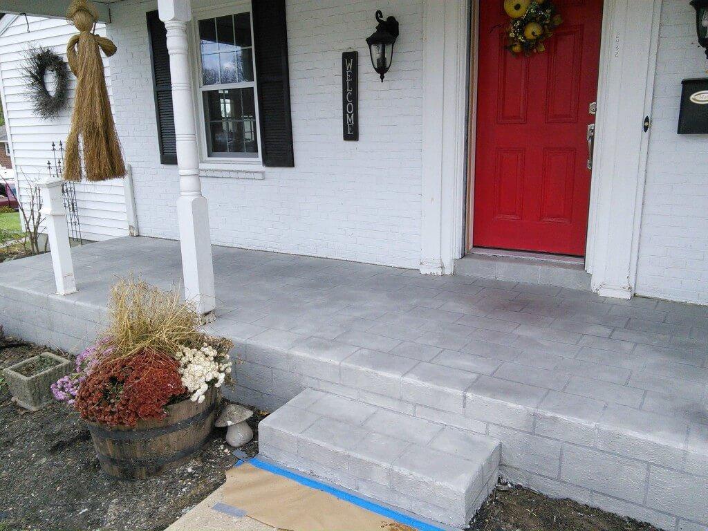 Wilmington Delaware Concrete Porch Refinished