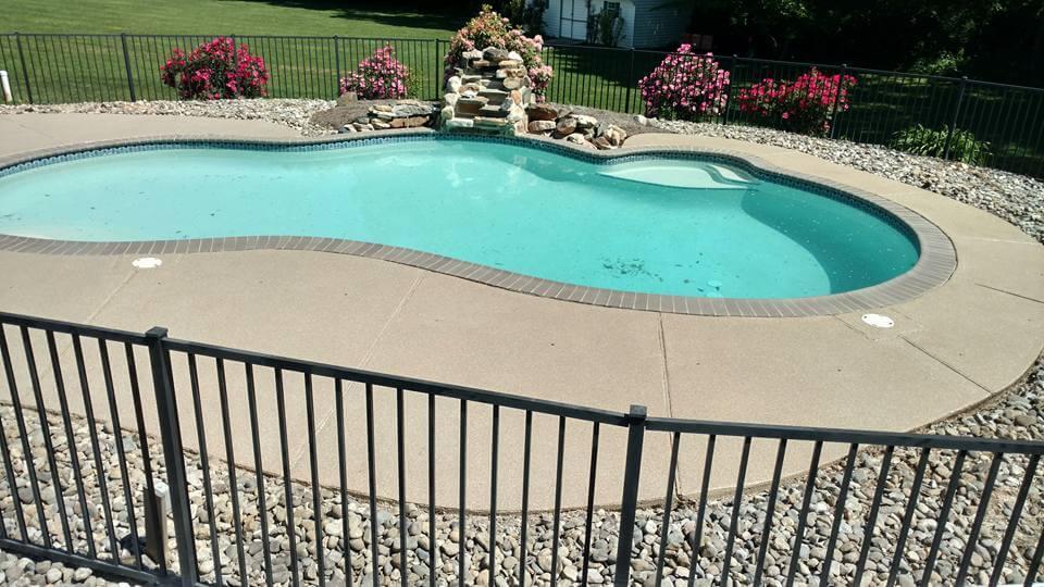 Decorative Concrete Pool Deck Project