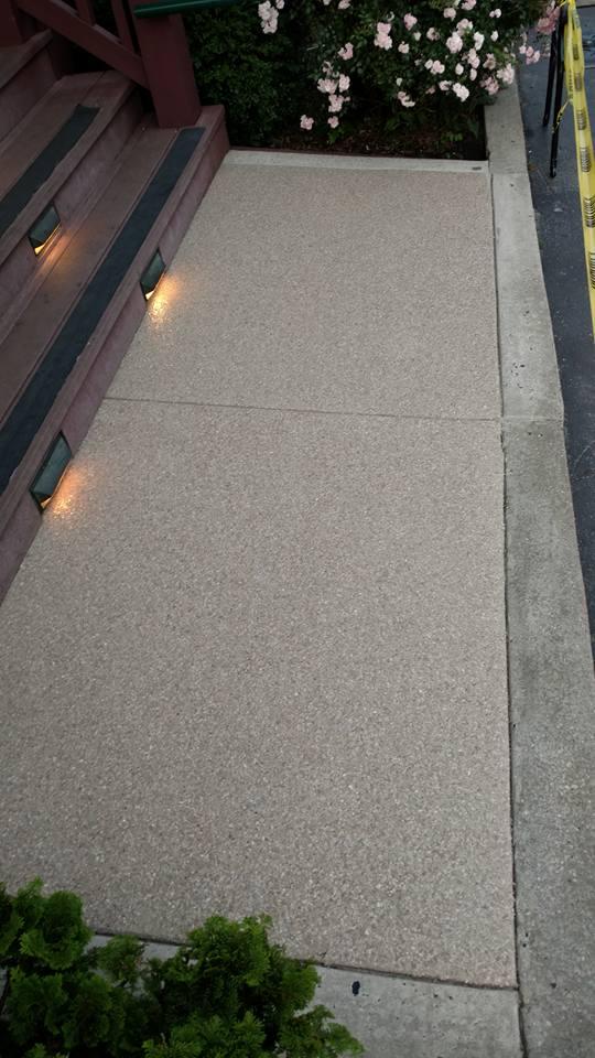Chesapeake Inn Decorative Concrete Graniflex Project